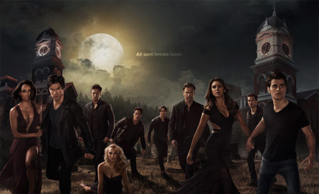 The Vampire Diaries Poster: Look Who's Holding Hands!