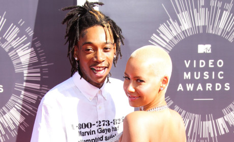 Amber Rose and Wiz Khalifa at MTV VMAs