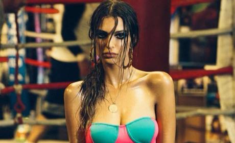 Emily Ratajkowski at the Gym