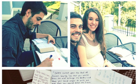 Jill Duggar and Derick Dillard: Writing Bible Verses For Encouragement During Pregnancy, Labor, Delivery!