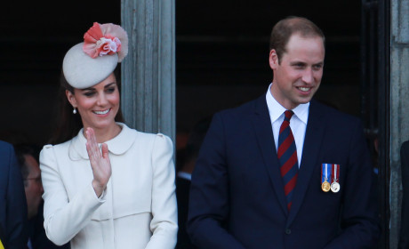 Kate Middleton and Prince William Greet Subjects