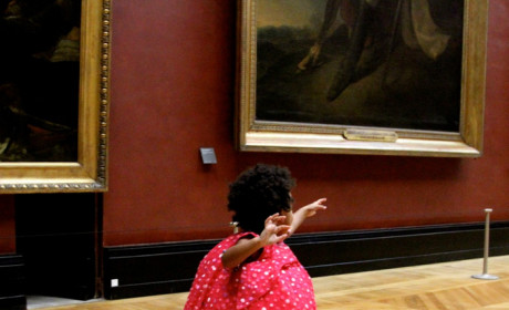 Blue Ivy at the Louvre