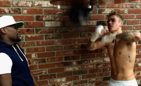 Justin Bieber in Training