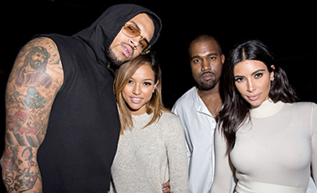 Kim Kardashian and Kanye West Hang With Chris Brown and Karrueche Tran: WTH!?
