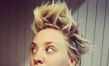 Kaley Cuoco: Spiky Hair