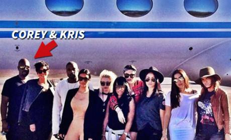 Corey Gamble with the Kardashians