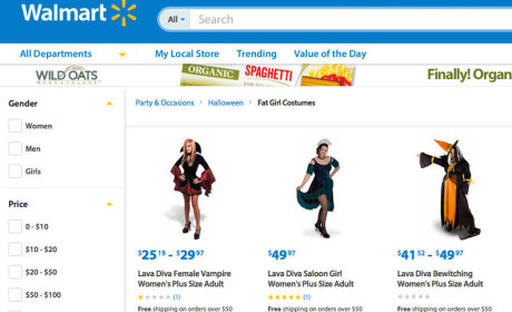 "Walmart Apologizes for ""Fat Girl Costumes"" Label on Website"