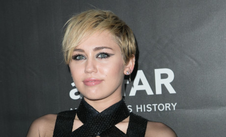 Miley Cyrus Exposes Side Boob, Donates $500,000 at AIDS Research Fundraiser in Los Angeles