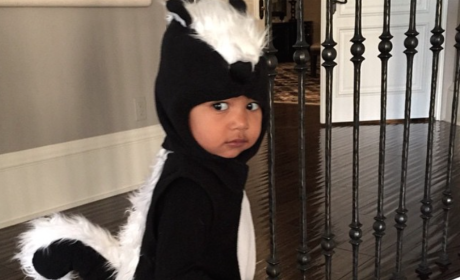 North West Dresses as a Skunk for Halloween: Why, Kimye, Why?!?