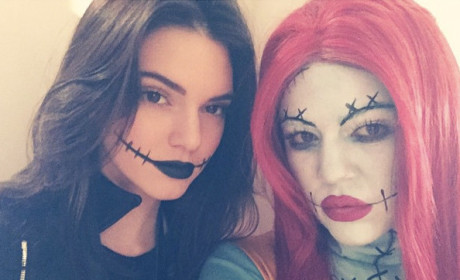 Scary Kendall Jenner and Khloe Kardashian