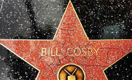 "Bill Cosby Walk of Fame Star: Defaced with ""Rapist"" Graffiti"
