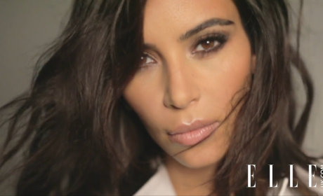 Kim Kardashian for Elle UK