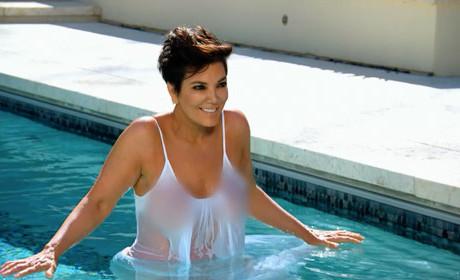 Kris Jenner in the Pool