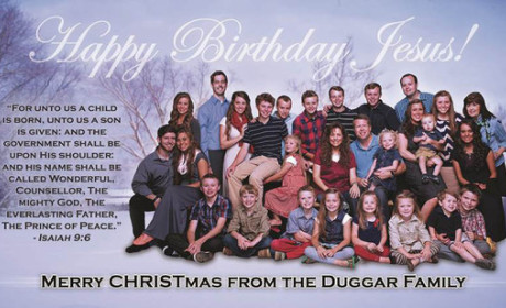 Duggar Family Christmas Card