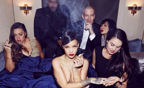 Rihanna: Boobs and Blunts Galore in Topless Instagram Photo!