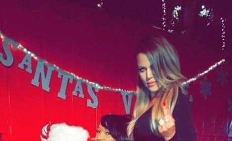 Khloe Kardashian: Santa Claus Photo