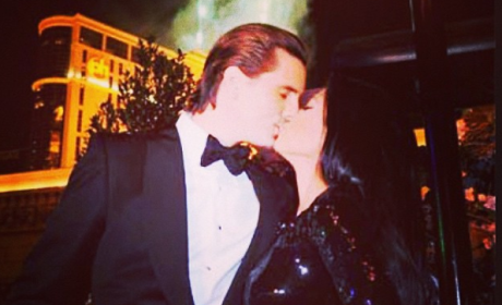 Scott and Kourtney Kiss