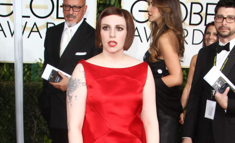 Lena Dunham at the Golden Globe Awards