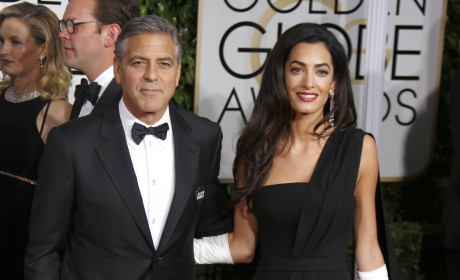 George Clooney, Amal Alamuddin at the Golden Globes