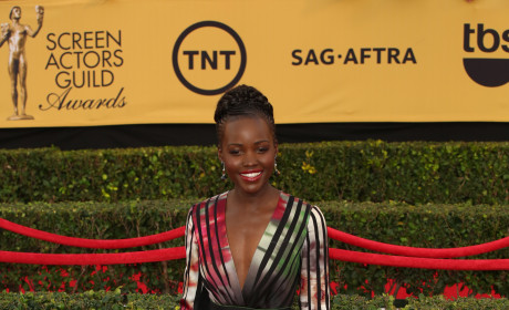 Lupita Nyong'o at the SAG Awards