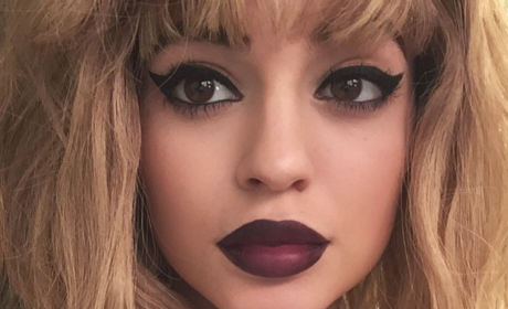 Kylie Jenner: Blonde and Big-Lipped for LOVE Magazine