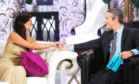 Teresa Giudice and Andy Cohen