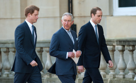Princes Charles, William and Harry in London