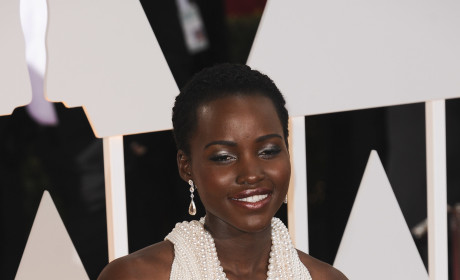 Lupita Nyong'o at the 2015 Oscars