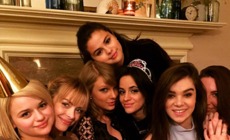 Selena Gomez and Taylor Swift Celebrate Girls Night In: See the Pics!