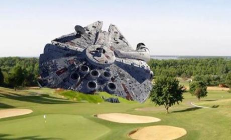 Harrison Ford Crashed Millennium Falcon