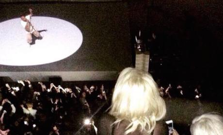 Kim Watches Kanye in Paris