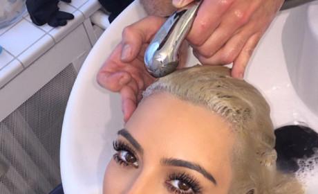 Kim Kardashian at the Salon