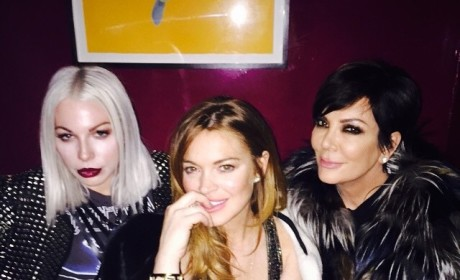 Lindsay Lohan and Kris Jenner Party in Paris: Unexpected BFF Alert!