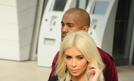 Kim Kardashian Puts Boobs on Display in See-Through Shirt