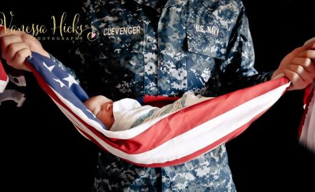 Photo of Baby Wrapped in American Flag Ignites Internet Outrage