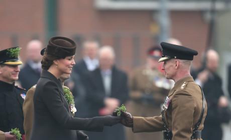 Kate Middleton Presents Shamrocks