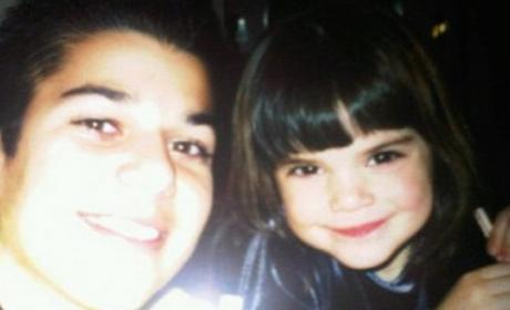 Kendall Jenner Throws It Way Back, Wishes Rob Kardashian a Happy Birthday
