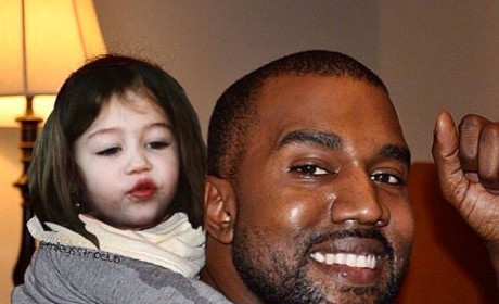 Miley Cyrus Photoshops Baby Face on Pictures of North West for Some Reason