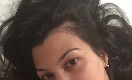 Kourtney Kardashian: No Makeup on Instagram!