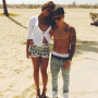 Yovanna Ventura and Justin Bieber Shirtless
