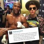 Floyd Mayweather and Justin Bieber