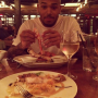 Chris Brown Eating Dinner