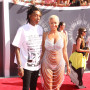 Amber Rose and Wiz Khalifa at the 2014 VMAs