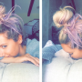 Ashley Tisdale Dyes Hair Purple, Celebrates Young & Hungry Renewal