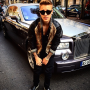 Justin Bieber Poses in Paris