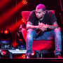Chris Brown on the Stage
