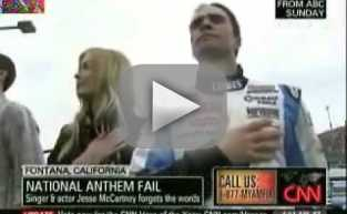 Jesse McCartney National Anthem Debacle