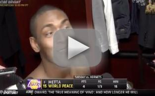Metta World Peace: Too Sexy for His Cat!