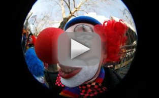 Clown Terrorizes British Town