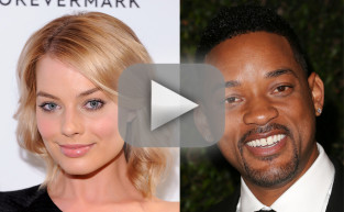 Will Smith and Margot Robbie Touch Chests!